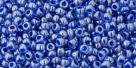 10 g TOHO Seed Beads 11/0 TR-11-1057 - Inside-Color Lt Sapphire/Opak Dk Blue Lined (E)