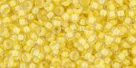 10 g TOHO Seed Beads 11/0 TR-11-0192 - Inside-Color Crystal/Yellow Lined (E)