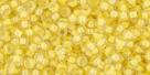 10 g TOHO Seed Beads 11/0 TR-11-0192 - Inside-Color Crystal/Yellow Lined (E)