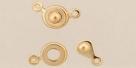 Druckverschluss - 7x11 mm goldfarben