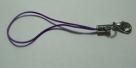 1 Stück Handykordel mit Biegering & Karabiner - purple