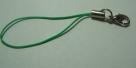 1 Stück Handykordel mit Biegering & Karabiner - grün