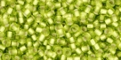 10 g TOHO Seed Beads 11/0 TR-11-0024 F Lime Green Silver-Lined Frosted (A,D)