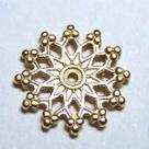 #05 1 Stück filigranes Metall Ø 16 mm goldfarben