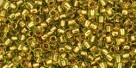 10 g TOHO Seed Beads 11/0 TR-11-0747 - Copper-Lined Lime Green (A,E)