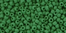 10 g TOHO Seed Beads 11/0 TR-11-0047 HF - Opaque-Frosted Pine Green