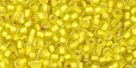 10 g TOHO Seed Beads 11/0 TR-11-0032 F - Siver-Lined Frosted Lemon (A,D)