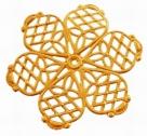 #15 1 Stück filigranes Metall Ø 27 mm goldfarben