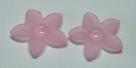 #02.4 - 1 Acrylblüte transp.-matt Ø 17mm rosa