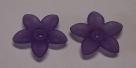 #02.6 - 1 Acrylblüte transp.-matt Ø 17mm lila
