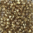 #22.00 - 25 Stück - 4,0 mm Crystal Bicone gold