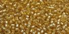 5g TOHO SeedBeads 15/0 TR-15-0022 F - Silver-Lined Matte lt. Topaz (A,E)
