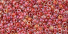 10 g TOHO Seed Beads 11/0 TR-11-0186 - Inside-Color Luster Crystal/Terra Cotta Lined (E)