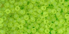 10 g TOHO Seed Beads 11/0 TR-11-0004 F Lime Green Frosted