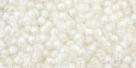 10 g TOHO Seed Beads 11/0 TR-11-0777 - Inside-Color Rainbow Crystal/Creme Lined (E)