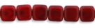 50 Stück Two-Hole Flat Square 6mm - Opalin Oxblood