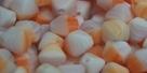#02 40 Stück - Bicone 6,0 mm - opak matt weiß-flieder-orange mar
