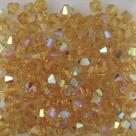 #53.00 - 25 Stück - 4,0 mm Crystal Bicone topaz AB