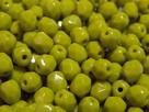 #10 50 Stück - 4,0 mm Glasschliffperlen - opak olivine