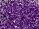 #45.00 - 10 g cz. Farfalle 4x2 mm tr. crystal violett lined