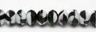 #03 - 20 Stück - 5*8mm Donut - Opak Black & White