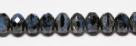 #10 - 20 Stück - 5*8mm Donut - Black/Blue Travertin