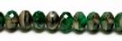#13 - 20 Stück - 5*8mm Donut - Tr. Green/Opak Beige marmor.