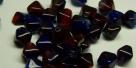 #08 40 Stück - Bicone 6,0 mm - tr. rot/opak blau