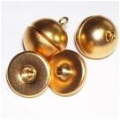 Schraubverschluss Kugel - 19x14 mm goldfarben matt
