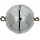 1 Neumann-Kugel-Magnet-Verschluss Ø 18 mm  Acryl Rhodium
