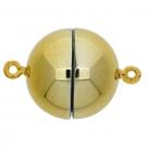 1 Neumann-Kugel-Magnet-Verschluss Ø 15 mm  Acryl Gold