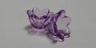 #04.06 - 10 Acrylblüten transp. Ø 10mm purple