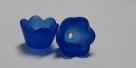 #04.05a - 1 Acrylblüte transp.-matt Ø 10mm dkl.-blau