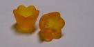 #04.09 - 1 Acrylblüte transp.-matt Ø 10mm orange
