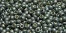 10 g TOHO Seed Beads 11/0 TR-11-PF565 F - Permanent Finish - Galvanized Matte Silver Grey (A,C,D)