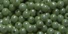 #01 - 50 Stück Perlen rund - opak weiß olivincoating - Ø 3 mm