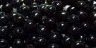 #20 50 Stück Perlen rund - opak jet - Ø 4 mm