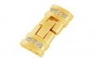 Fold Over Uhrenverschluss - 25x12 mm goldfarben