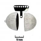 2 Neumann-Mehrstrang-Endkappen Ø 22x14 mm Rhodium