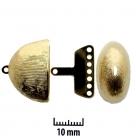 2 Neumann-Mehrstrang-Endkappen Ø 22x14 mm Gold