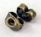 5 Paar Ohrmuttern bronze
