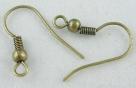 1 Paar Ohrhaken - 18 mm - bronzefarben