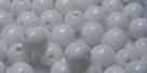 #02.00 25 Stück Perlen rund - opak weiß - Ø 6 mm