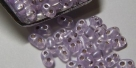 #11 10g Preciosa® TwinBeads lt lilac perl silver-lined