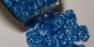 #14 10g Preciosa® TwinBeads blue perl silver-lined