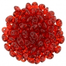 #011 10g SuperDuo-Beads tr. ruby