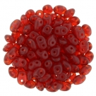 #012 10g SuperDuo-Beads tr. ruby matt - neue Charge
