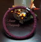 Crochet tube necklace Sweet Burgundy english version