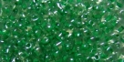 #40 10g Preciosa® TwinBeads crystal lt green color-lined