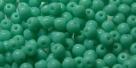 #23 - 50 Stück Perlen rund - opak grüntürkis  - Ø 3 mm